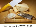 3 different pieces of coarse... | Shutterstock . vector #787012138