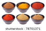 collection of indian spices ... | Shutterstock . vector #78701371
