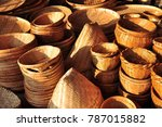 made baskets shop.there are... | Shutterstock . vector #787015882