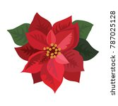 flower poinsettia. cartoon... | Shutterstock .eps vector #787025128