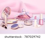 set of make up products... | Shutterstock . vector #787029742