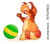 Cute Joyful Red Panda Plays...
