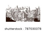 hand drawn sketch of sasas in... | Shutterstock .eps vector #787030378