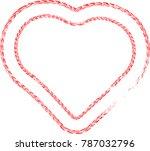 tire tracks in heart form. car...   Shutterstock .eps vector #787032796