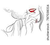 vector illustration of... | Shutterstock .eps vector #787038316