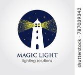 lighthouse flat style logo... | Shutterstock .eps vector #787039342