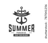 anchor emblem. element for... | Shutterstock .eps vector #787041256