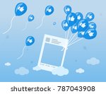 illustration vector of social... | Shutterstock .eps vector #787043908