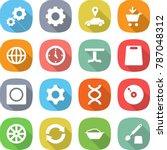 flat vector icon set   gear... | Shutterstock .eps vector #787048312