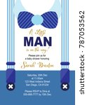 baby boy shower invitation card | Shutterstock .eps vector #787053562