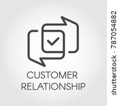 customer relationship graphic... | Shutterstock .eps vector #787054882