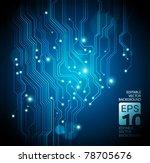 circuit board vector background | Shutterstock .eps vector #78705676