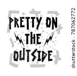 stylish trendy slogan tee t... | Shutterstock .eps vector #787062772