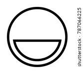 laugh emoji icon vector | Shutterstock .eps vector #787066225