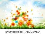 Colorful Summer Scene Design