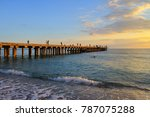 perspective view of pier on the ... | Shutterstock . vector #787075288
