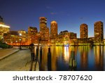 boston harbor and cityscape at... | Shutterstock . vector #78707620