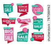 valentine s day sale banner set.... | Shutterstock . vector #787088962