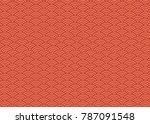 japanese pattern gold vector | Shutterstock .eps vector #787091548