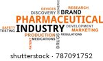 a word cloud of pharmaceutical...   Shutterstock .eps vector #787091752