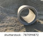concrete drainage ditch | Shutterstock . vector #787094872