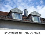 roof with dormer windows on a... | Shutterstock . vector #787097536