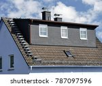 roof with dormer windows on a... | Shutterstock . vector #787097596