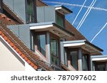 roof with dormer windows on a... | Shutterstock . vector #787097602