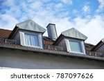 roof with dormer windows on a... | Shutterstock . vector #787097626