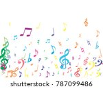 colorful flying musical notes...   Shutterstock .eps vector #787099486