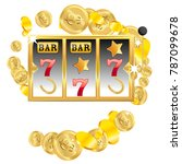 casino. golden slot machine... | Shutterstock .eps vector #787099678
