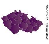 map czechrepublic map. each... | Shutterstock .eps vector #787100902