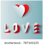 valentine greeting card with... | Shutterstock .eps vector #787102225