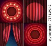 shining retro light circle... | Shutterstock .eps vector #787119142