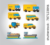delivery transportation icon...   Shutterstock .eps vector #787123846