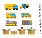 delivery transportation icon... | Shutterstock .eps vector #787123855
