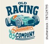 vector racing car illustration... | Shutterstock .eps vector #787129795