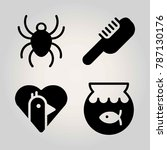 animals vector icon set. bird ... | Shutterstock .eps vector #787130176