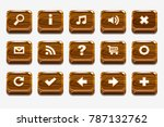 wooden square buttons with...