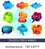 abstract colorful speech...