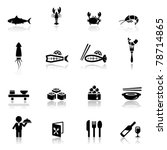 icons set sea food | Shutterstock .eps vector #78714865