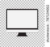 monitor on transparent... | Shutterstock .eps vector #787154002