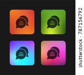 chat four color gradient app...   Shutterstock .eps vector #787156792