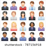 business people faces vector set | Shutterstock .eps vector #787156918
