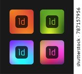 indesign four color gradient...