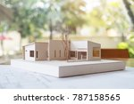 an architecture model with shop ... | Shutterstock . vector #787158565