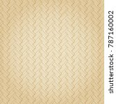 bamboo woven vector with brown... | Shutterstock .eps vector #787160002