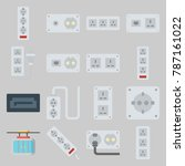 icon set about connectors... | Shutterstock .eps vector #787161022