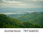 mountain layer and fog on the...   Shutterstock . vector #787166032
