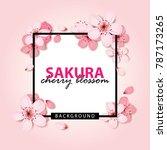 sakura   cherry blossom... | Shutterstock .eps vector #787173265